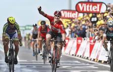 Cop d'efecte en la segona etapa del Tour