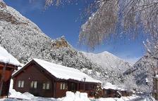 La nevada omple els bungalous dels càmpings