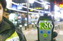 Detingut amb 4,86 de taxa d'alcohol, el rècord mundial