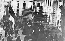 Processó de setmana santa a Sant Julià de Lòria l'any 1896.