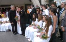 El copríncep episcopal assiteix a una entrega de premis en una edició anterior.
