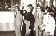 La benedicció amb el bisbe Martí, el cap de govern Ribas i el síndic Cerqueda