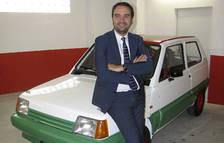 Jordi Serracanta amb el seu primer cotxe de ral·lis