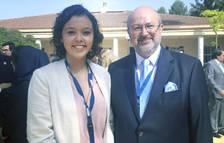 Aina Solana amb Lamberto Zannier, Secretari General de l'OSCE