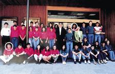 L'equip de 'barrufets' del 1993, amb Marc Pons i Conxita Marsol (encerclats).