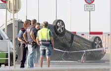 El cotxe en el qual viatjaven els cinc terroristes abatuts a Cambrils.