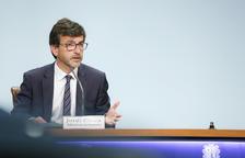 El ministre Cinca durant la roda de premsa posterior al consell de ministres.