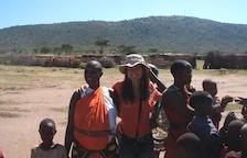 Carine Montaner en un viatge a Kènia.