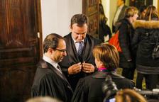 Jaume Tor i David Moynat, en un acte a Casa de la Vall.