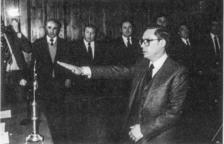 Jurament d'Òscar Ribas com a primer cap de Govern