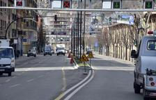 La mitjana de 400 metres de llarg de l'avinguda Tarragona, acabada