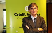 García Paramés va oferir una conferència aquest dimarts a la seu de Crèdit Andorrà.