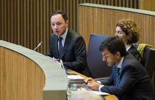 Xavier Espot al seu escó al Consell General
