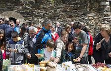 Mig centenar de persones celebren la diada de Sant Romà de Vila