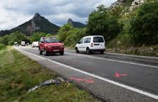 Mor la motorista de l'accident de la C-14, a Coll de Nargó