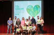 El 13è Concurs d'iniciatives ambientals premia cinc projectes ecològics