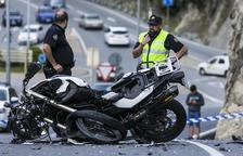 Mor un dels motoristes de l'accident a Escaldes