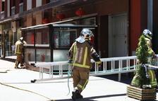 Incendi a la cuina d'un local de menjar xinès d'Escaldes