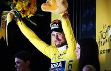 Sagan obté el mallot groc enmig d'un final accidentat