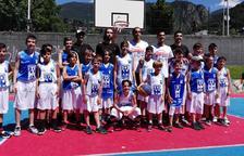 Una quarantena de joves participen al Campus Nacho Martín de bàsquet 3x3