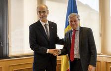 El cap de Govern i Etienne Guyot, aquest matí