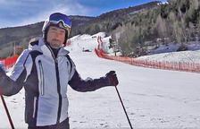 Luc Alphand a les pistes de Grandvalira on es disputarà la Copa del Món de la qual és ambaixador.