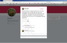 Reproducció del tuit de Ferran Goya.