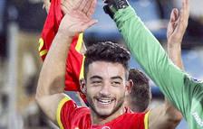 El jugador del FC Andorra, Jordi Aláez
