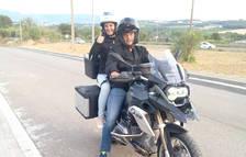 La Mònica Bonell i el seu marit, a la moto amb la qual fan les sortides