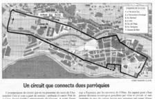 El recorregut previst per al circuit urbà de Fórmula 3.000.