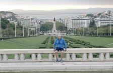 Gerard Cadena, al parc Eduard VII de Lisboa