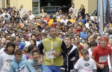 el tret de sortida de la primera cursa es va fer a la plaça Rebés.