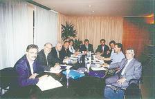 Primer comitè de la Cambra de Comerç, celebrat el 1997 i presidit per Jordi Marquet.