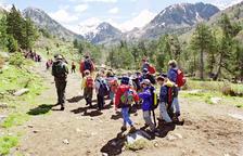 el parc  ha estat motiu de visita dels excursionistes més grans i petits