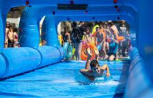 Tobogan aquàtic gegant de la festa del Poble d'Andorra la Vella 2019