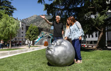 Escaldes inaugura la ruta escultòrica de Samuel Salcedo