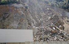 Nova caiguda de pedres a la Borda Sabater que obliga a tallar el trànsit