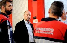 Rossell va visitar ahir els bombers.