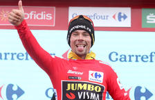 Roglic continua afermant-se en el lideratge de la Vuelta i Valverde cedeix respecte als favorits