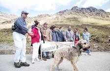 Protesta per la muntanya