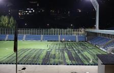 La nova gespa de l'Estadi Nacional supera el 'test'