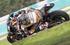 Xavi Cardelús sortirà últim a la cursa de Moto2 de Sepang