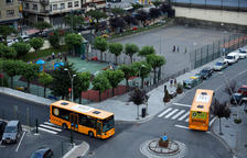 Vehicles de la línia del Bus Exprés a Sant Julià de Lòria.
