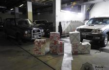 La policia deté dos homes no residents per contraban de 3.400 paquets de tabac