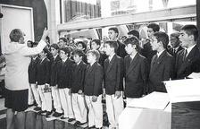 Els inicis del cor dels Petits Cantors l'any 1992