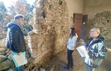 La reconstrucció a Sant Vicenç d'Enclar, a la primavera
