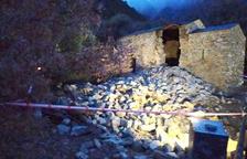 L'església de Sant Viceç d'Enclar després del seu enfonsament