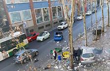 Xoc aparatós d'un cotxe andorrà a Sabadell