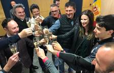 Espot i Riva celebren els resultats d'Irineu Esteve