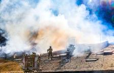 Incendi sense ferits en un taller de planxa a la Comella